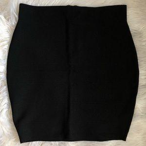 Bebe black mini bodycon skirt